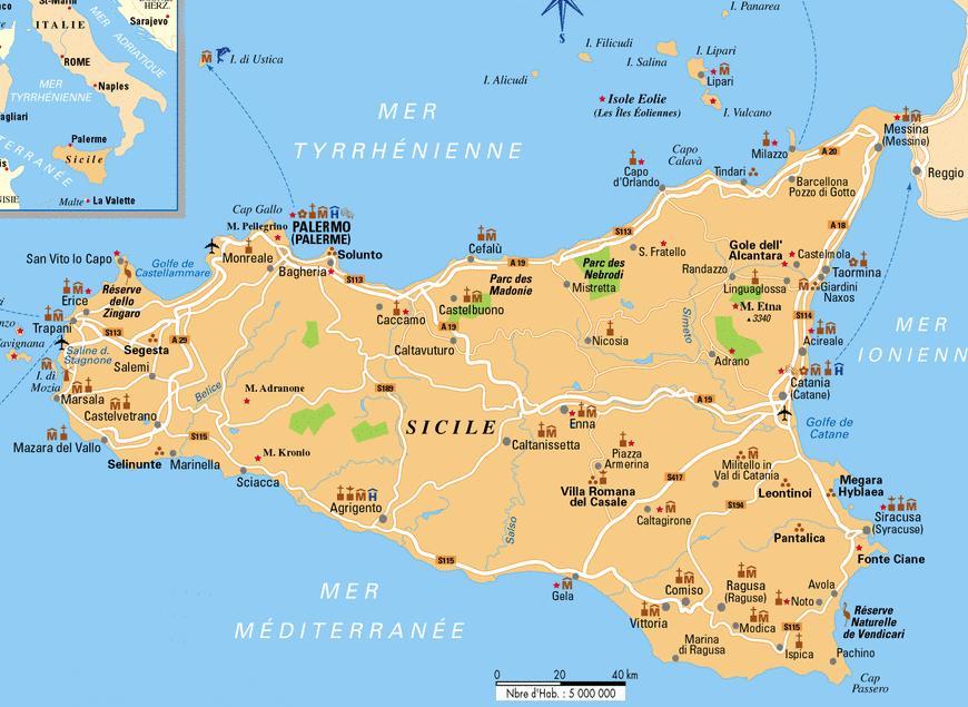 Les Grande Villes De Sicile